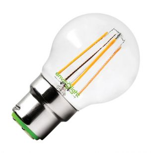 Envirolight 4W Warm White LED Decorative Filament Golf Ball Bulb - Bayonet Cap