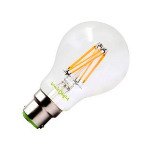 Envirolight 8W Warm White Dimmable LED GLS Bulb - Bayonet Cap