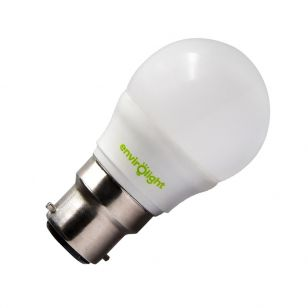 Envirolight 5W Warm White LED Golfball Bulb - Bayonet Cap
