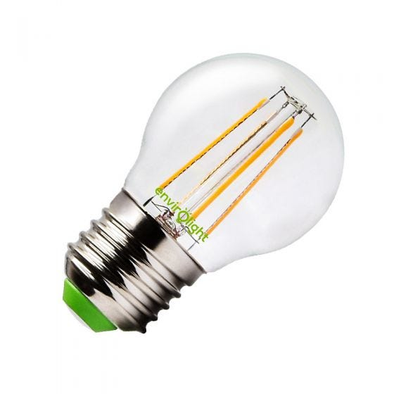 Envirolight 4W Warm White LED Dimmable Decorative Filament Golfball Bulb - Screw Cap